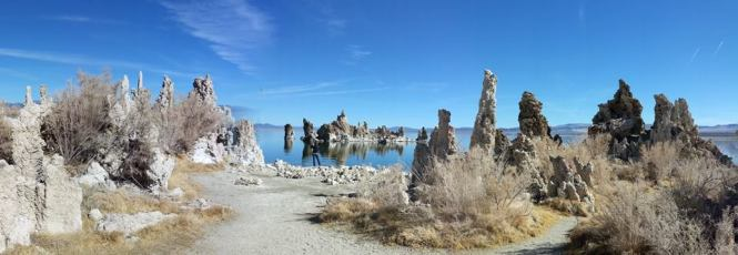 Limestone structures at Mono Lake, CA.
