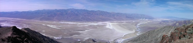 Death Valley National Park from Dante's Viewpoint.