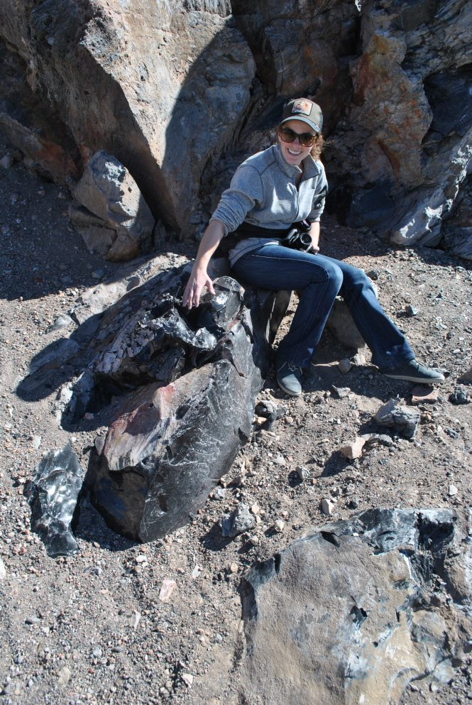 At Panum Crater you can find obsidian outcrops so big you can sit on them! Try not to cut your behind.
