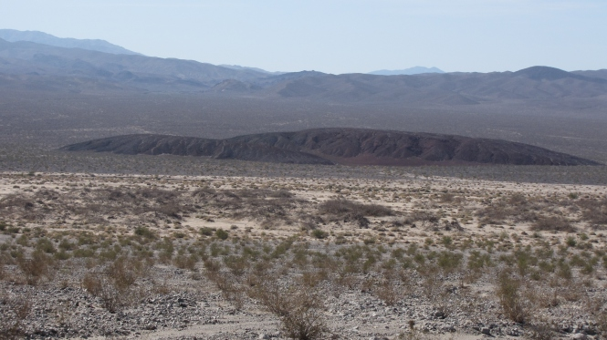 This cinder cone is being pulled apart by a right-lateral fault near Badwater Springs.