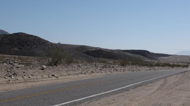 These lava flows have been uplifted close to the highway on Badwater Road.